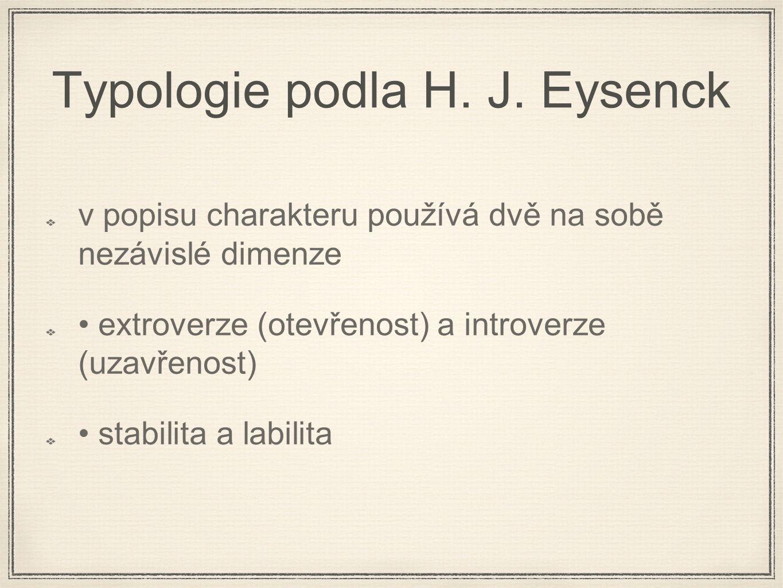 Typologie podla H. J. Eysenck
