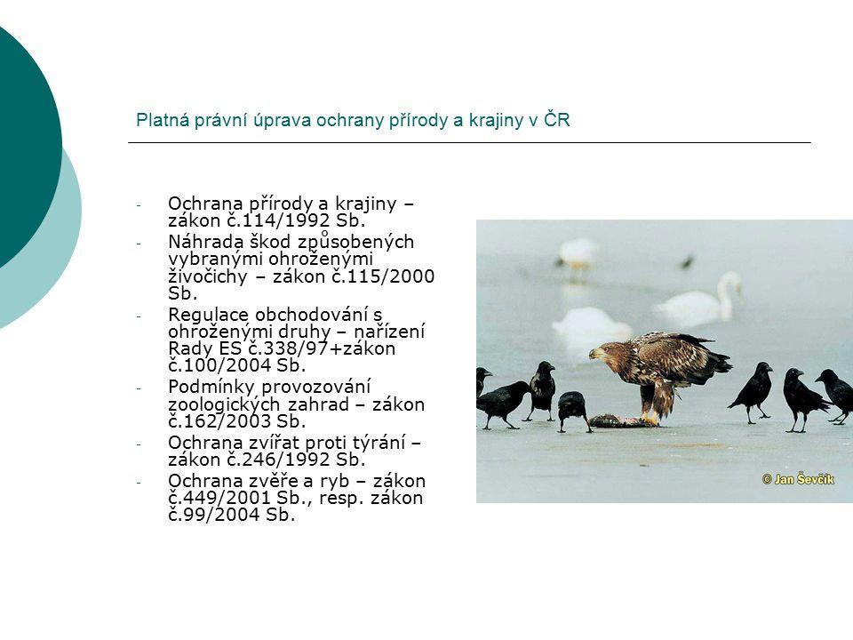 Platná právní úprava ochrany přírody a krajiny v ČR