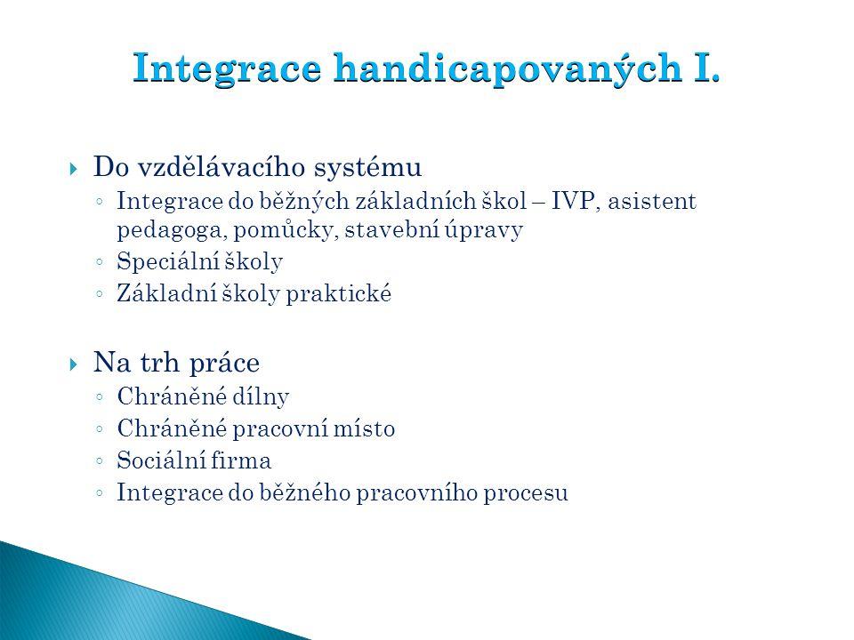 Integrace handicapovaných I.