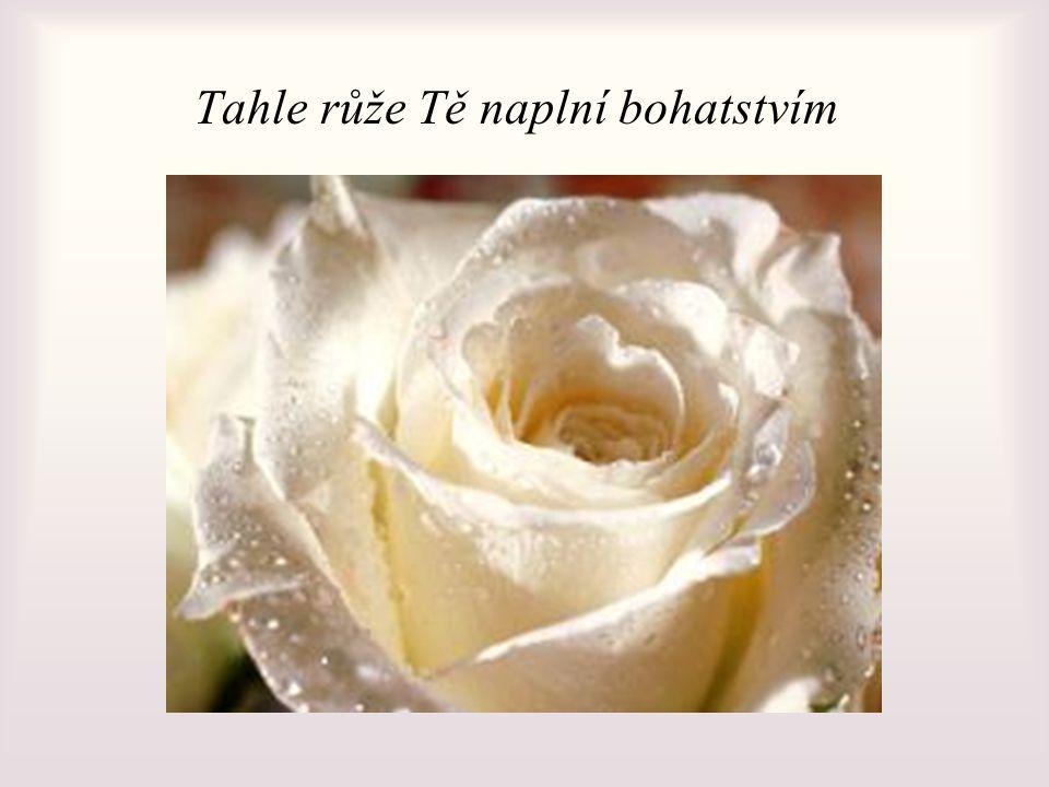 Tahle růže Tě naplní bohatstvím