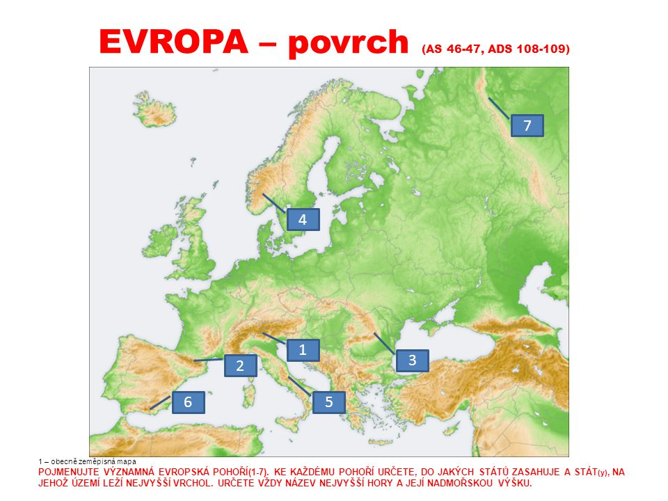 EVROPA – povrch (AS 46-47, ADS 108-109)