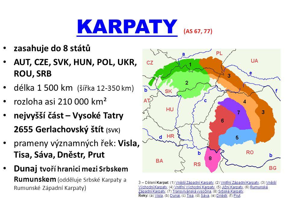 KARPATY (AS 67, 77) zasahuje do 8 států