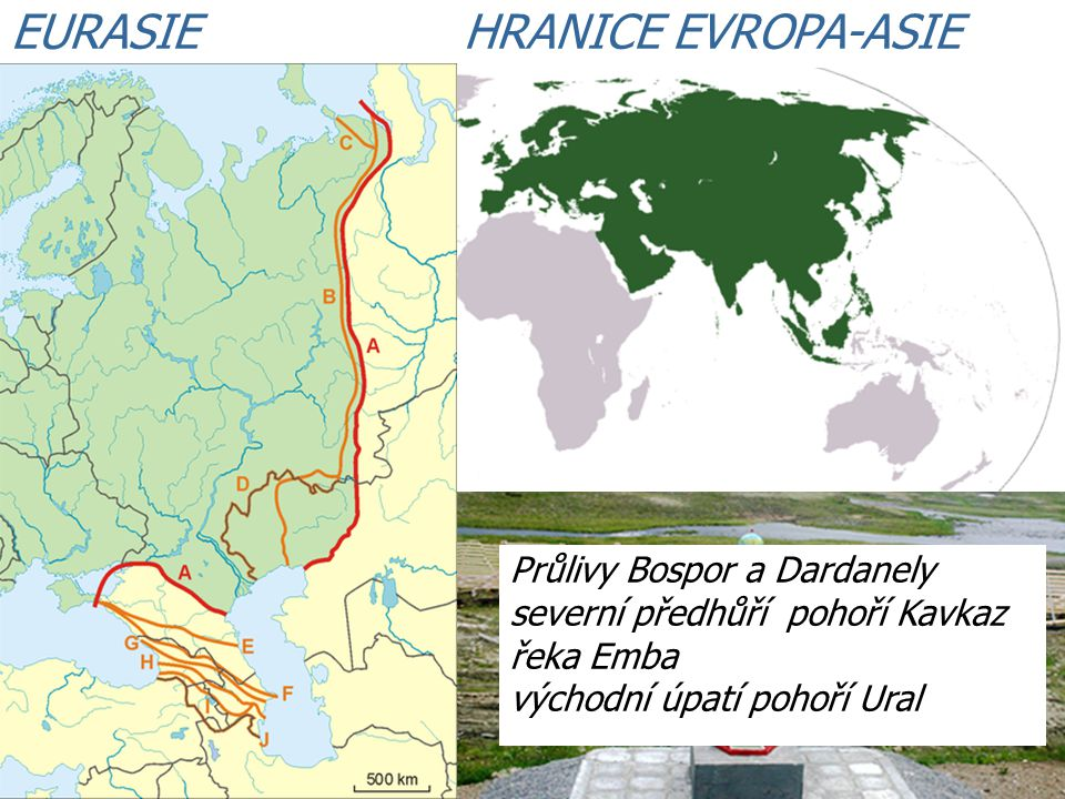 EURASIE HRANICE EVROPA-ASIE