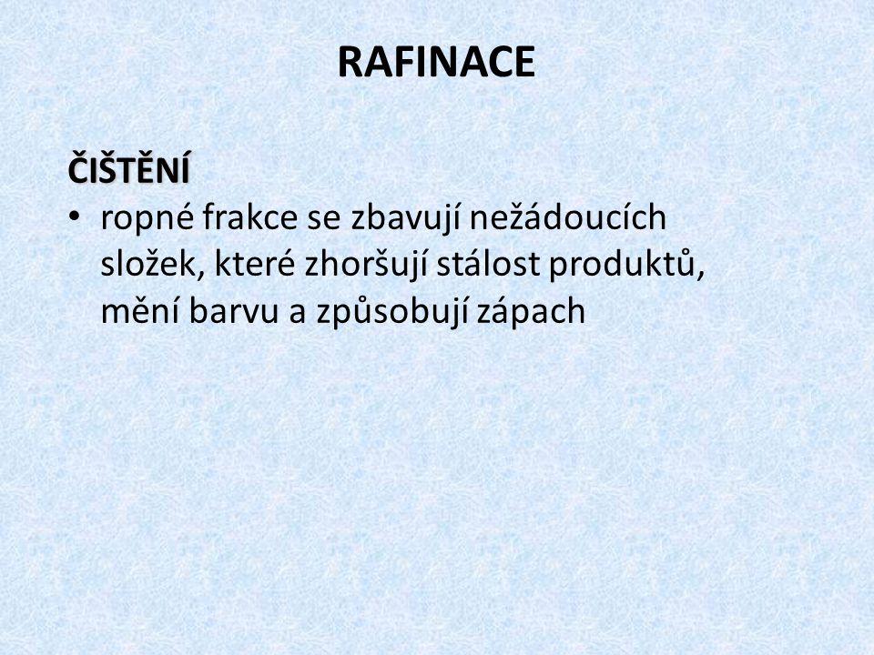 RAFINACE ČIŠTĚNÍ.