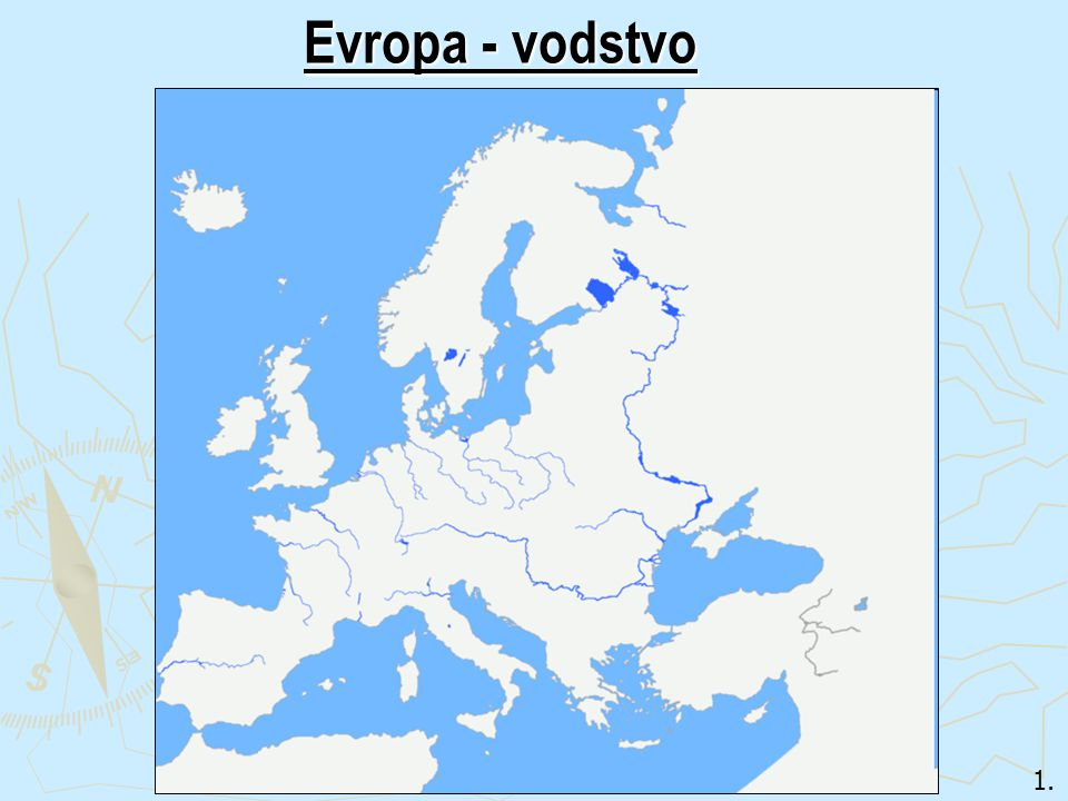 Evropa - vodstvo 1.