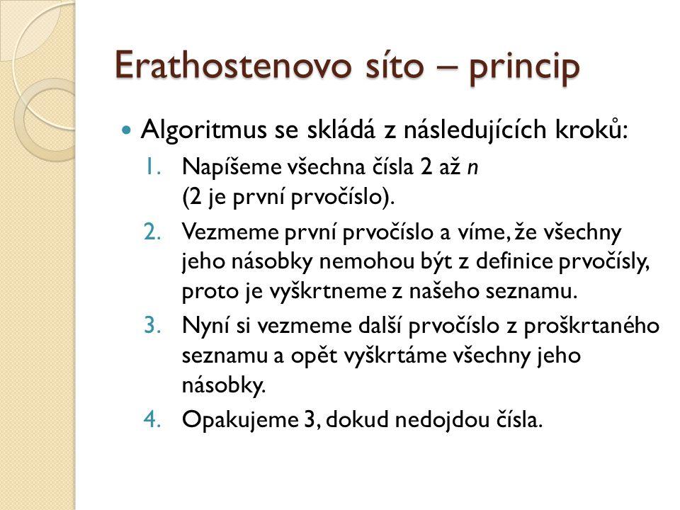 Erathostenovo síto – princip