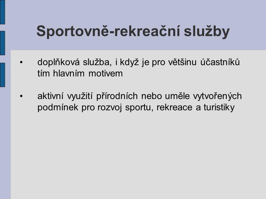 Sportovně-rekreační služby