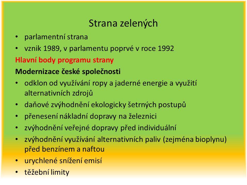 Strana zelených parlamentní strana