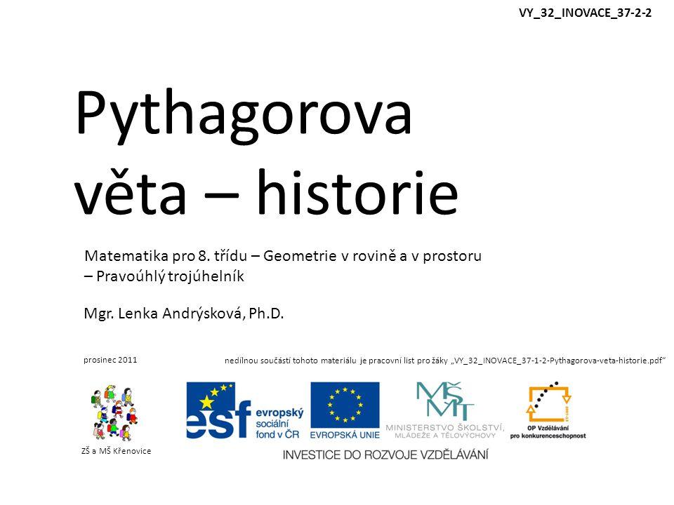 Pythagorova věta – historie
