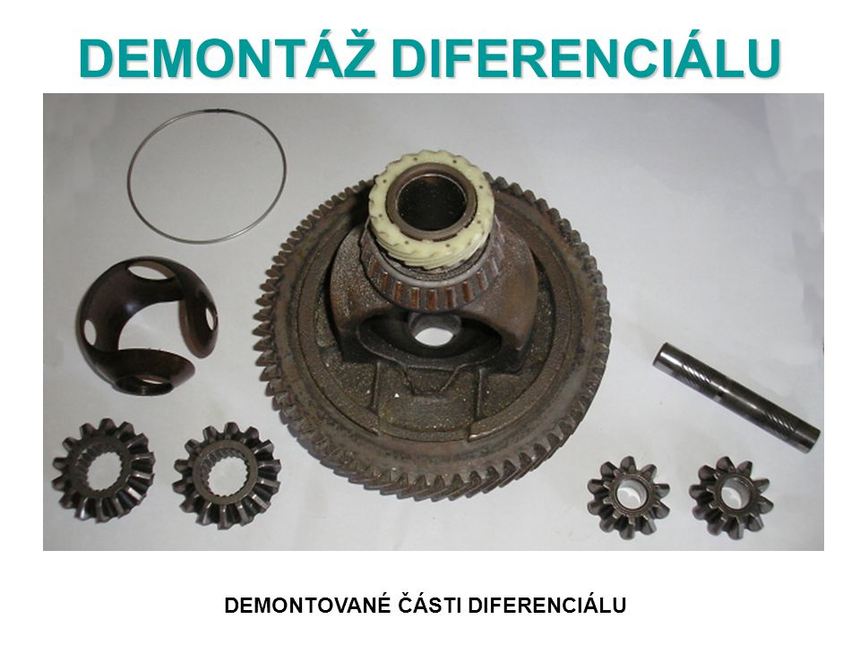 DEMONTÁŽ DIFERENCIÁLU