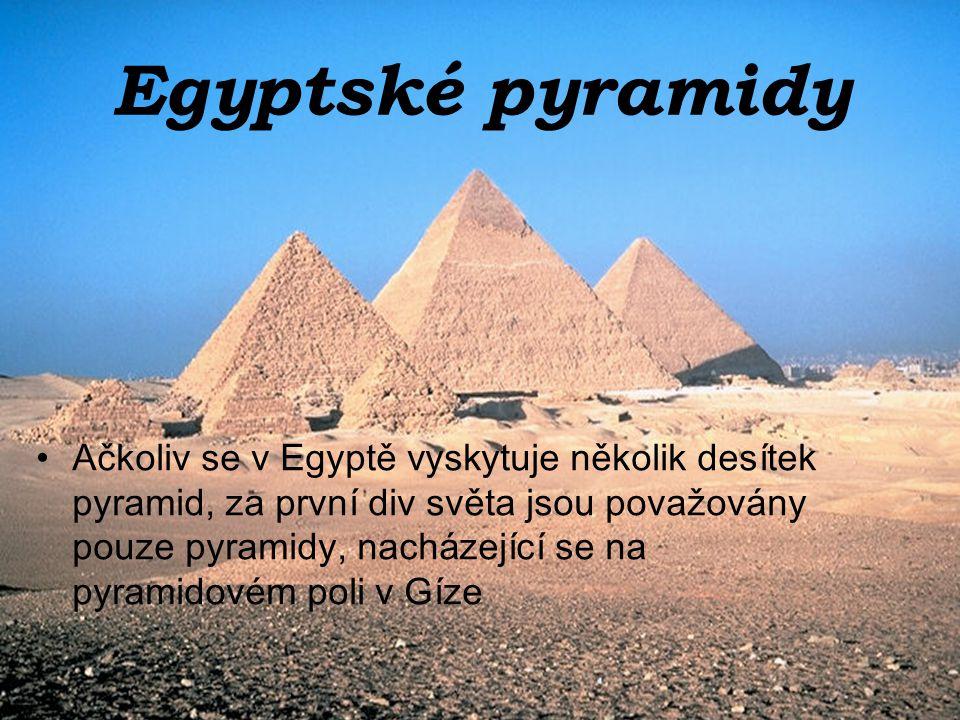 Egyptské pyramidy
