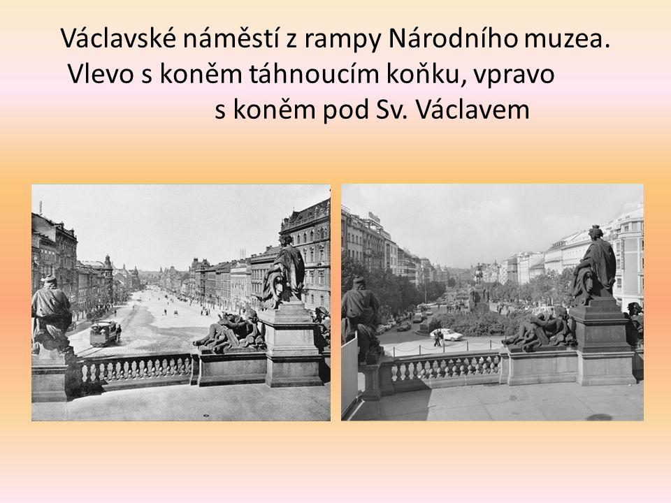 Václavské náměstí z rampy Národního muzea