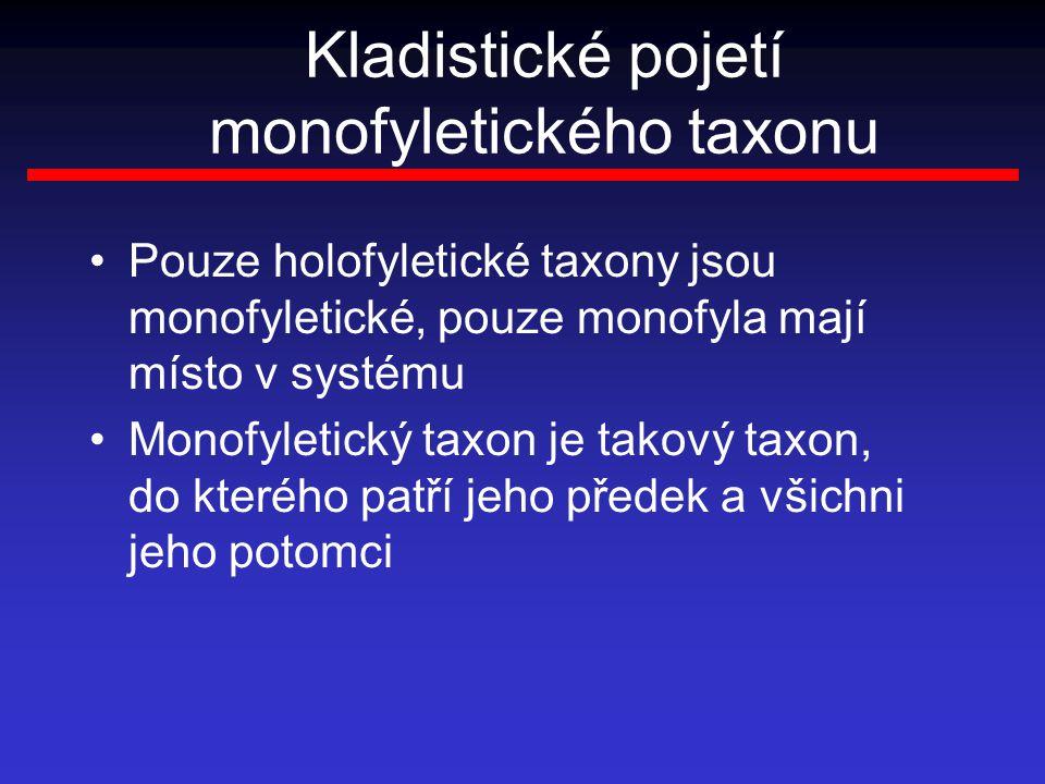 Kladistické pojetí monofyletického taxonu