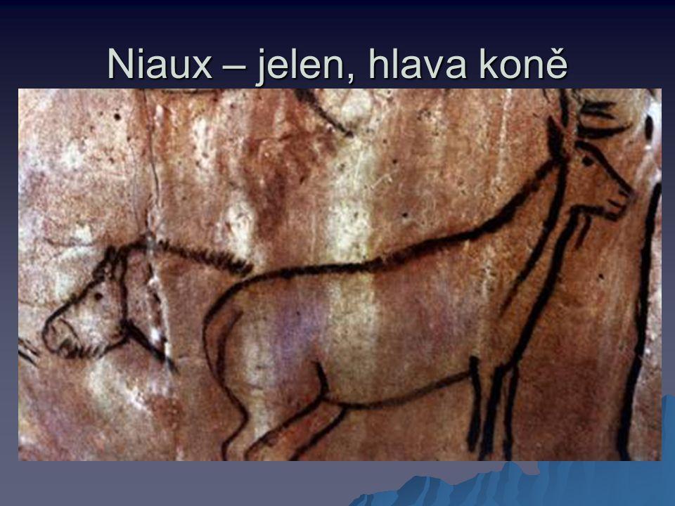 Niaux – jelen, hlava koně