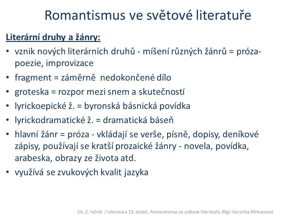 Romantismus ve světové literatuře