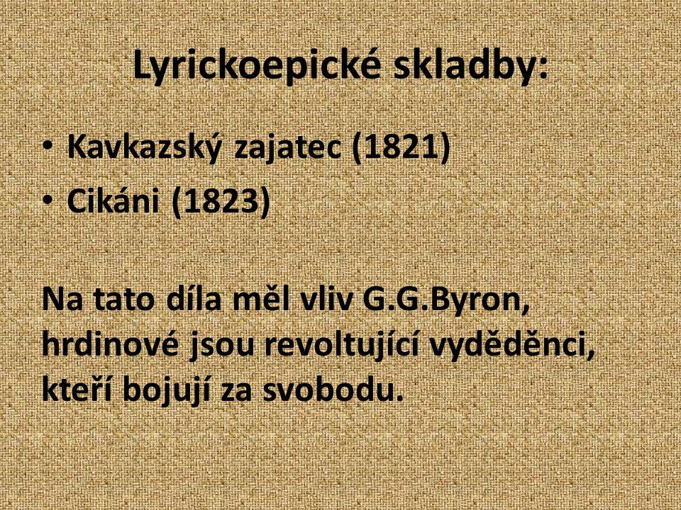 Lyrickoepické skladby: