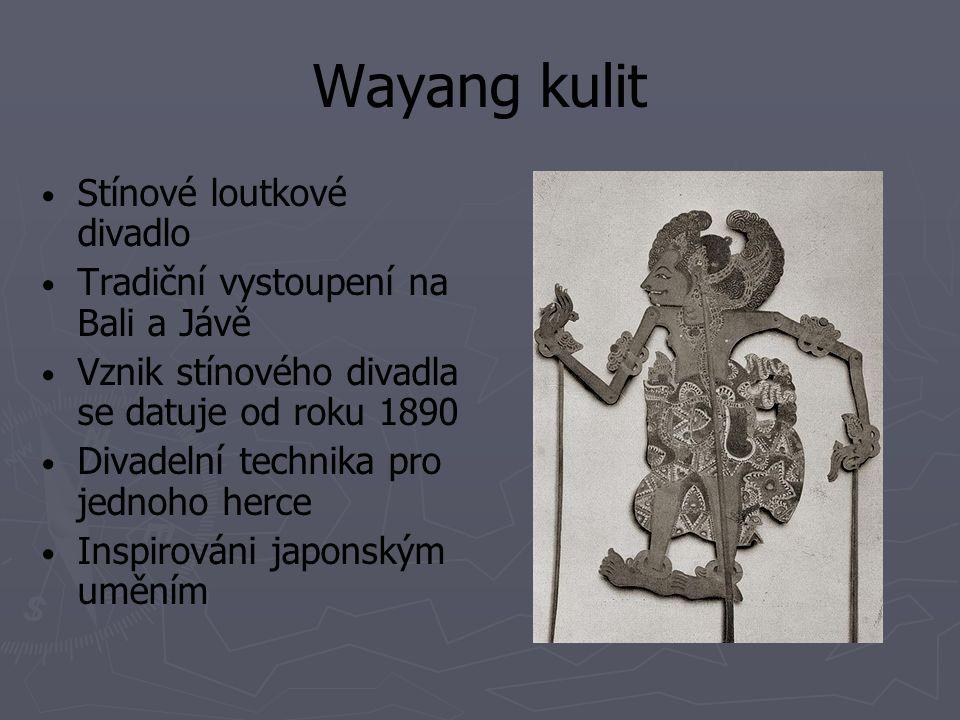 Wayang kulit Stínové loutkové divadlo
