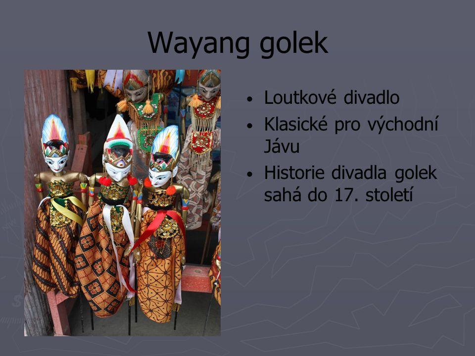 Wayang golek Loutkové divadlo Klasické pro východní Jávu