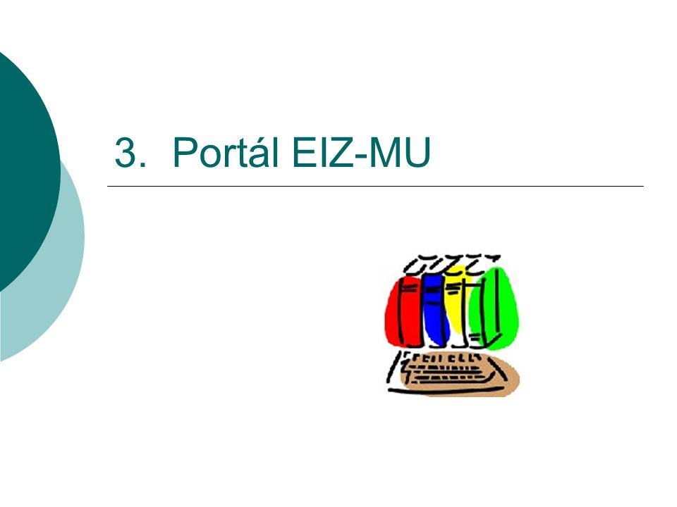 3. Portál EIZ-MU