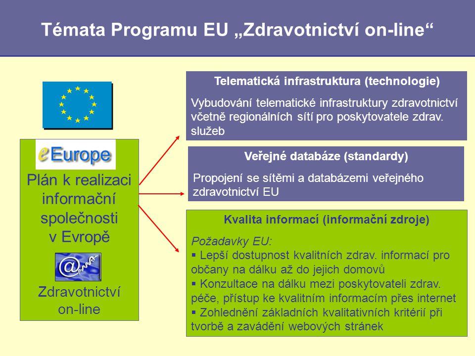 """Témata Programu EU """"Zdravotnictví on-line"""