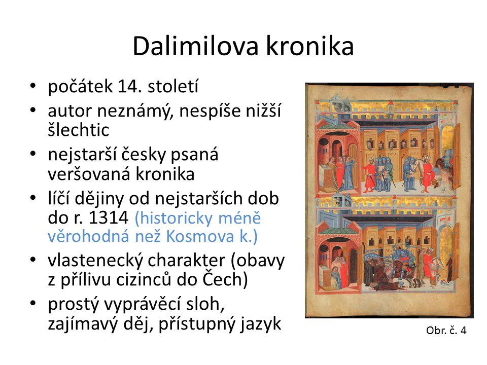 Dalimilova kronika počátek 14. století