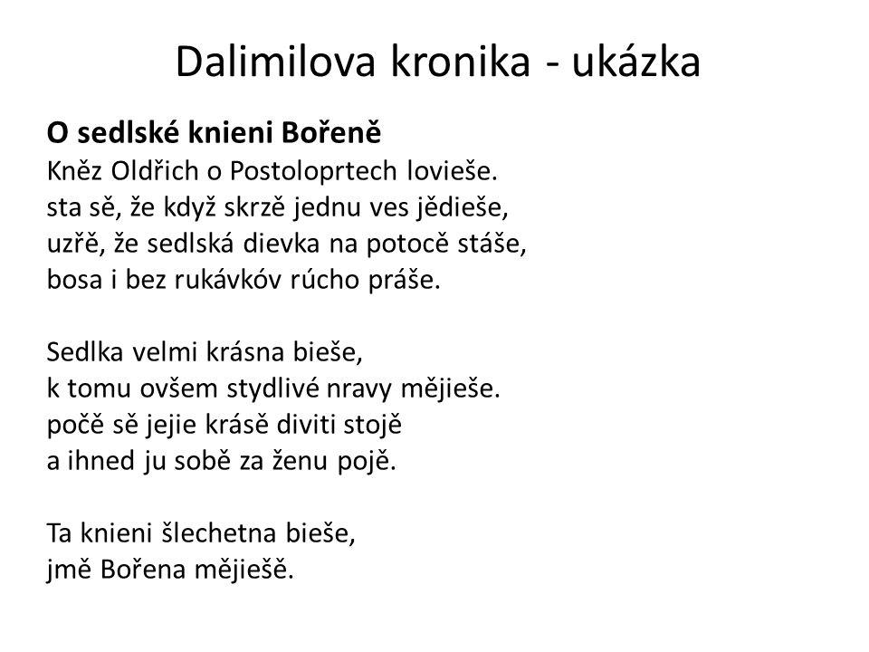 Dalimilova kronika - ukázka