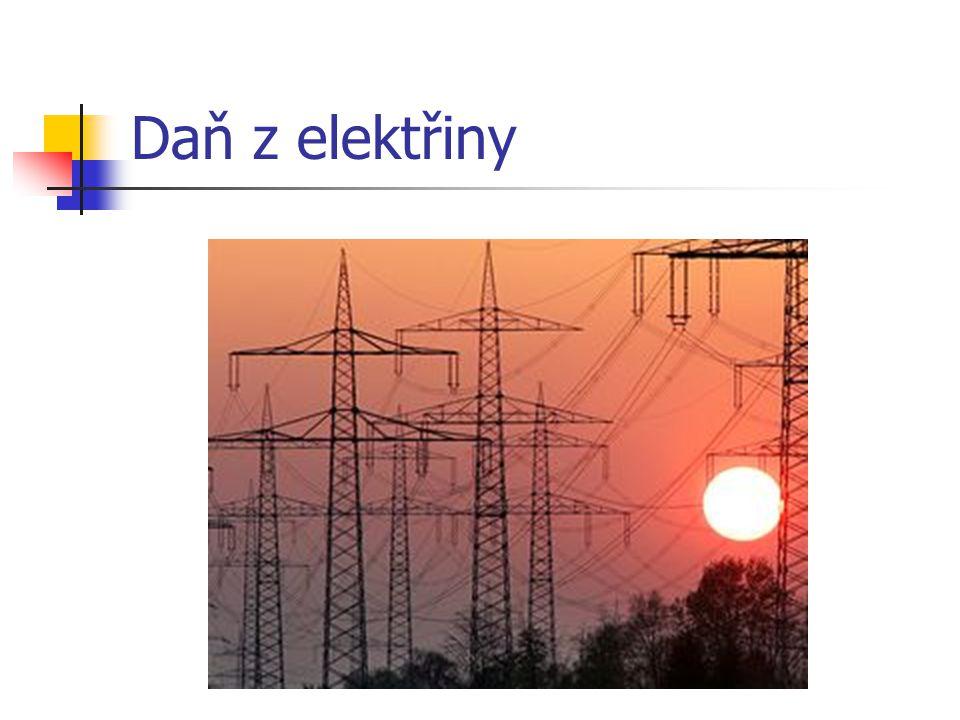 Daň z elektřiny