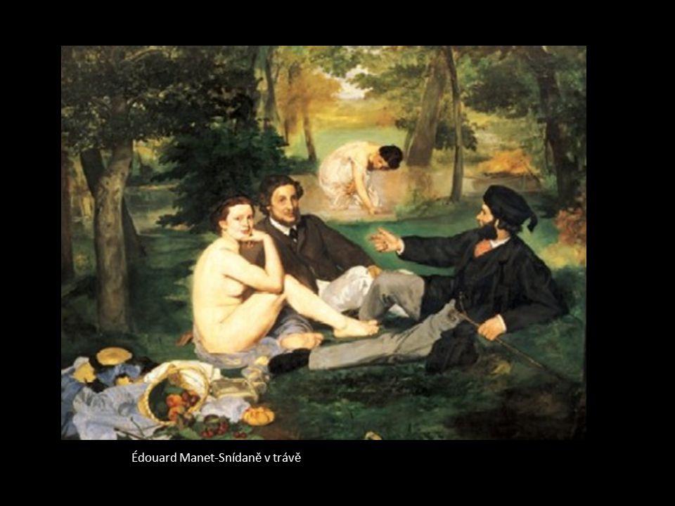 Édouard Manet-Snídaně v trávě