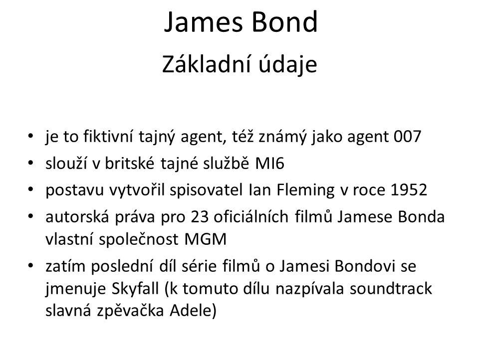 James Bond Základní údaje