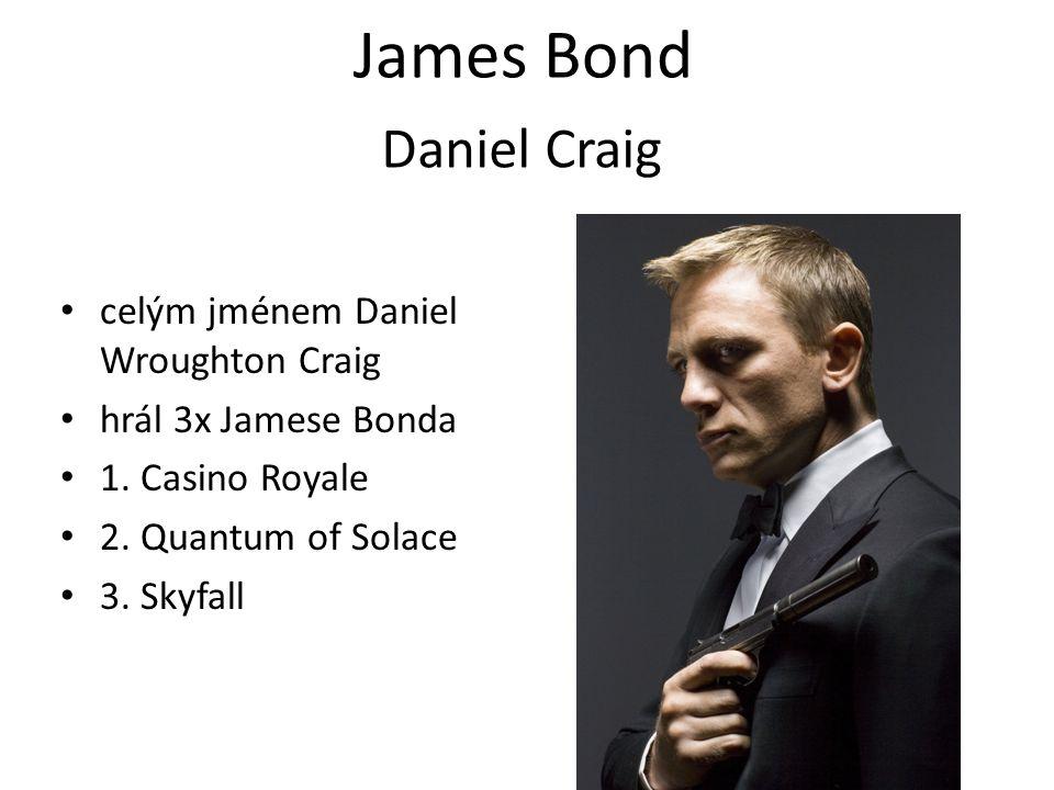 James Bond Daniel Craig celým jménem Daniel Wroughton Craig