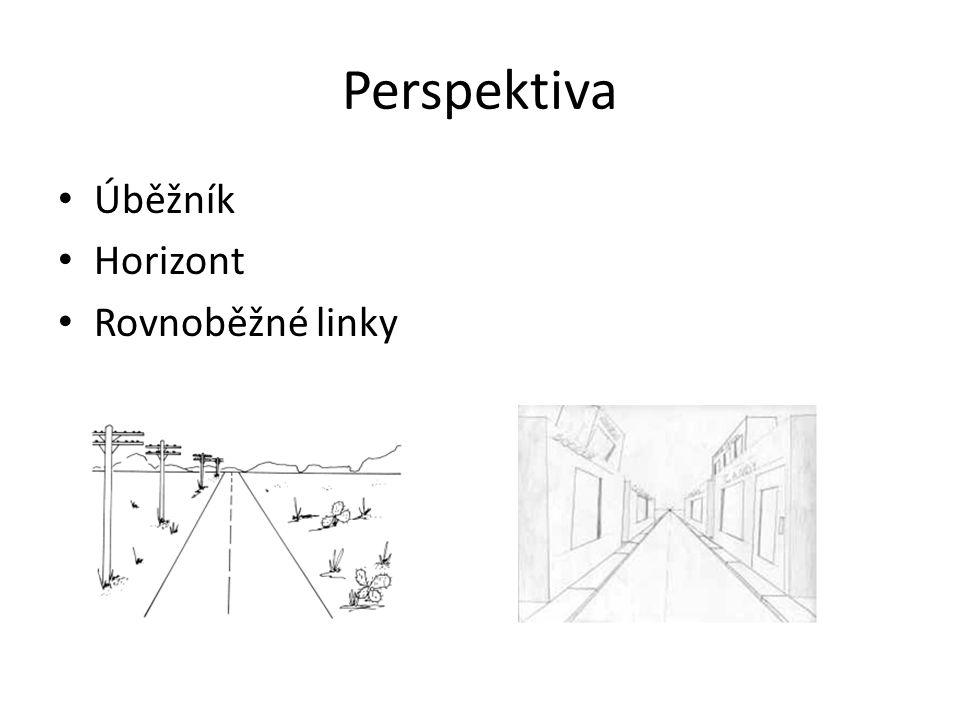 Perspektiva Úběžník Horizont Rovnoběžné linky