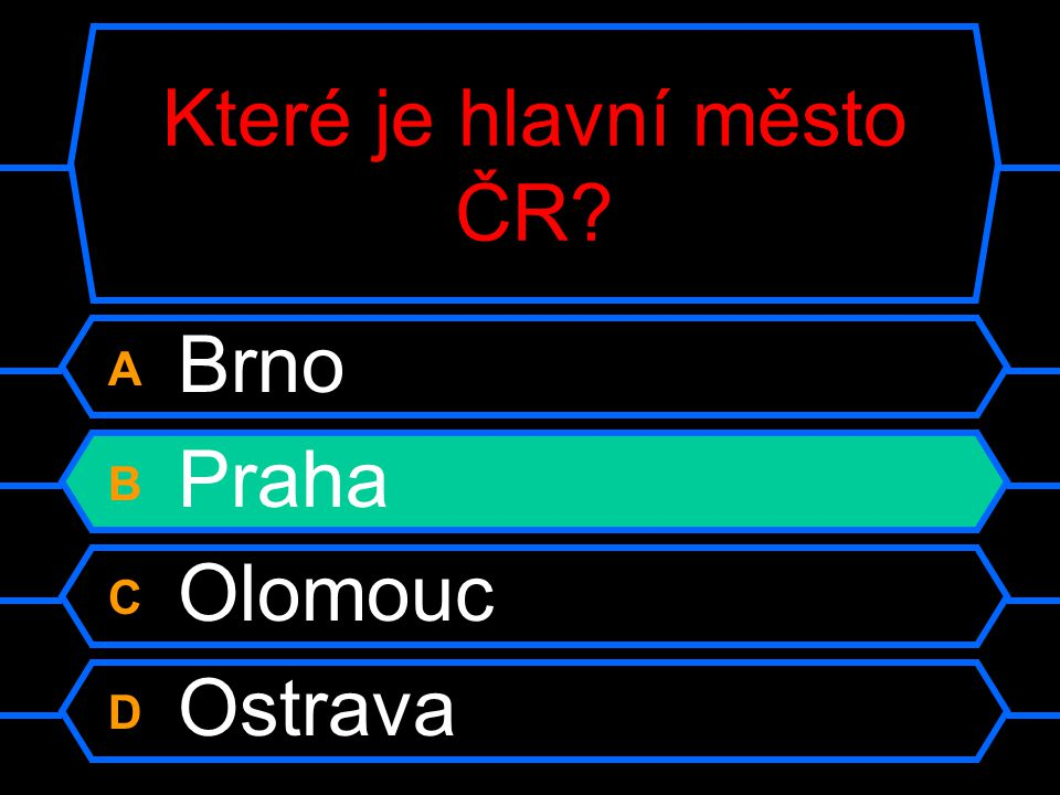 Které je hlavní město ČR