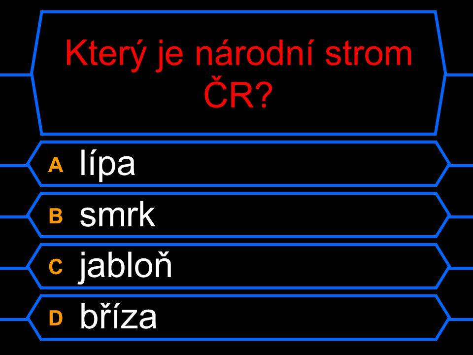 Který je národní strom ČR