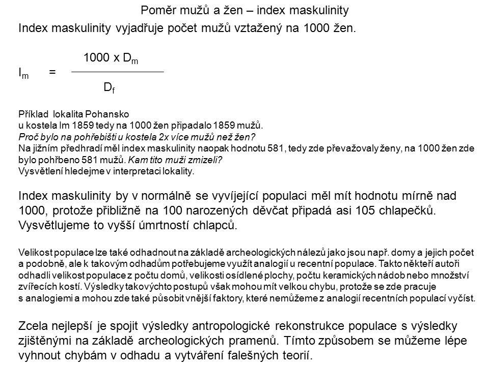 Poměr mužů a žen – index maskulinity
