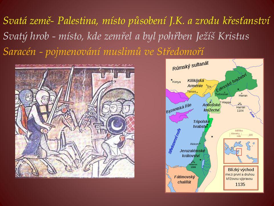 Svatá země- Palestina, místo působení J. K