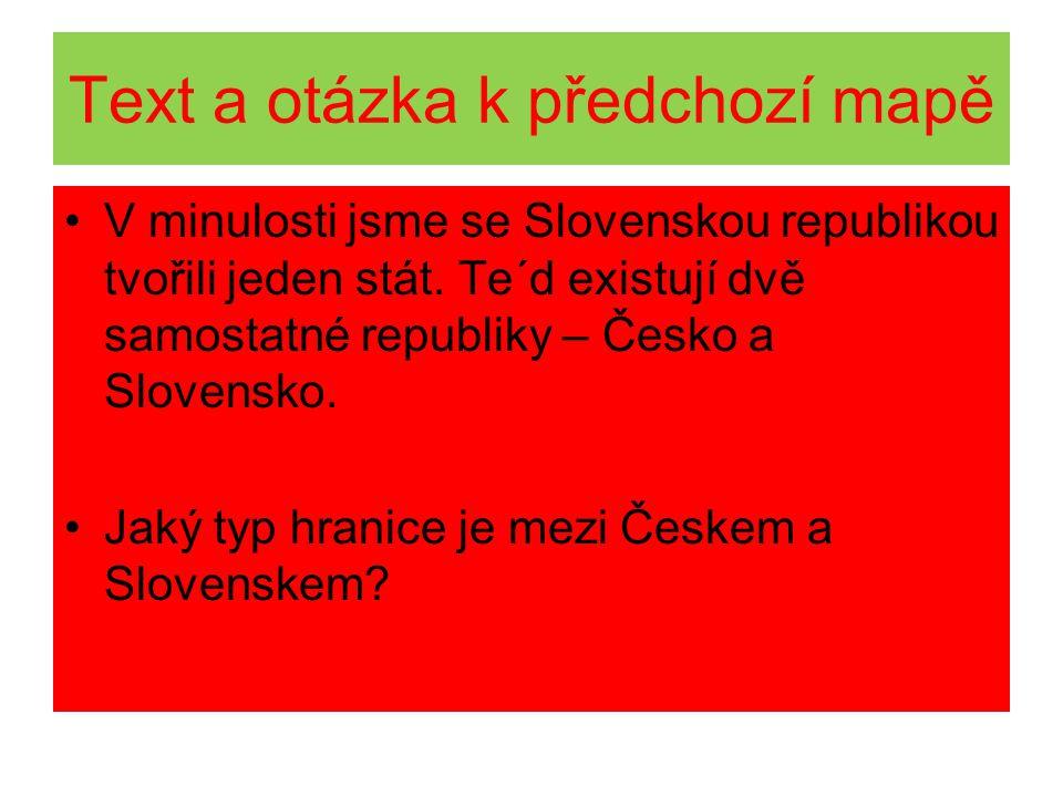 Text a otázka k předchozí mapě