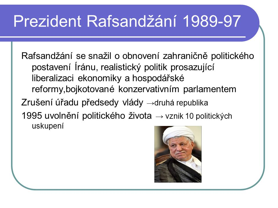 Prezident Rafsandžání 1989-97