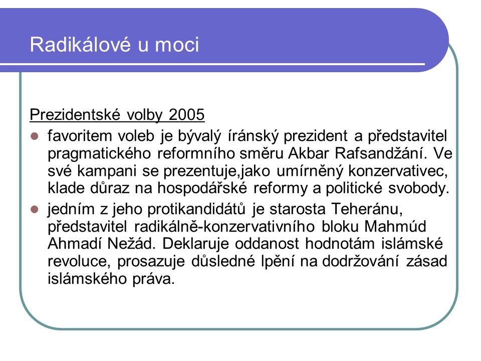 Radikálové u moci Prezidentské volby 2005