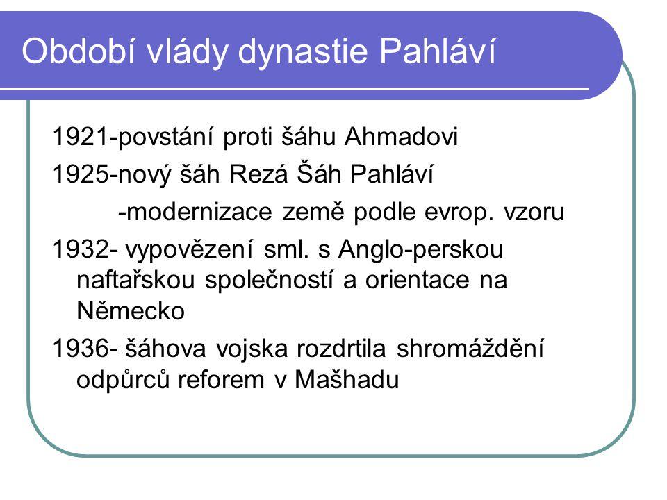 Období vlády dynastie Pahláví