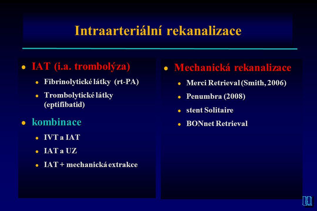 Intraarteriální rekanalizace