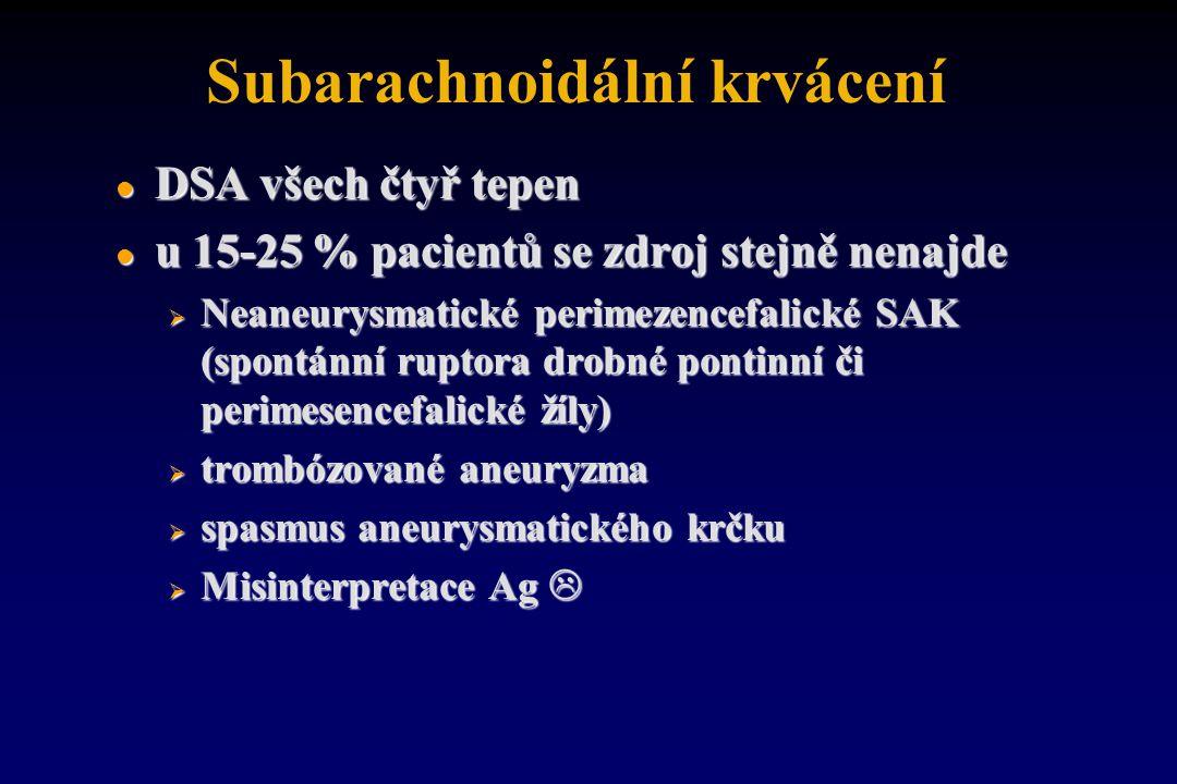 Subarachnoidální krvácení