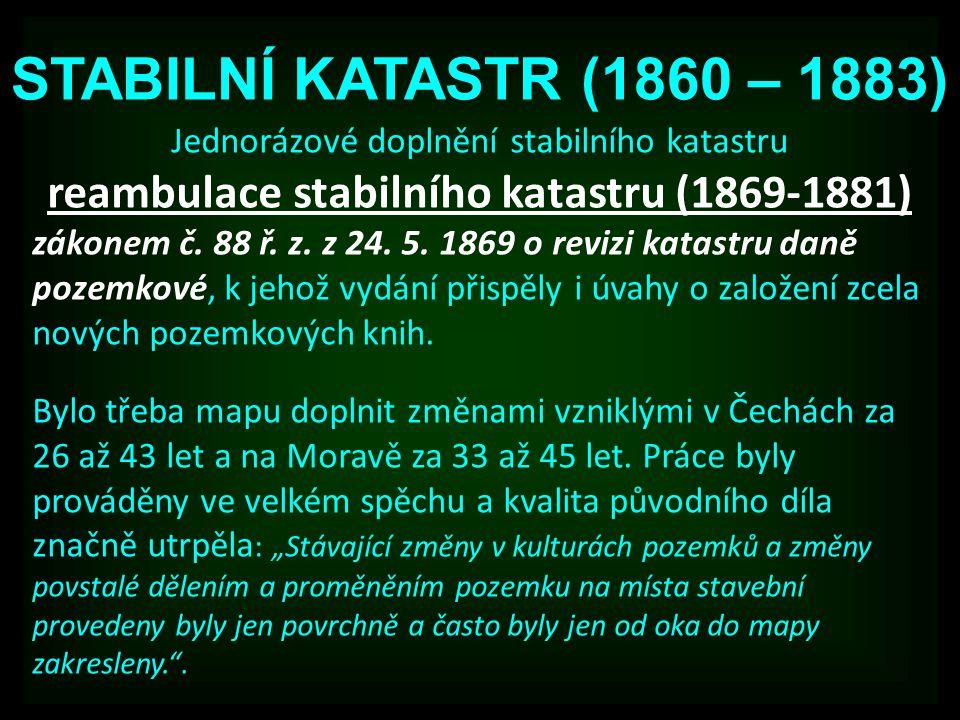 reambulace stabilního katastru (1869-1881)
