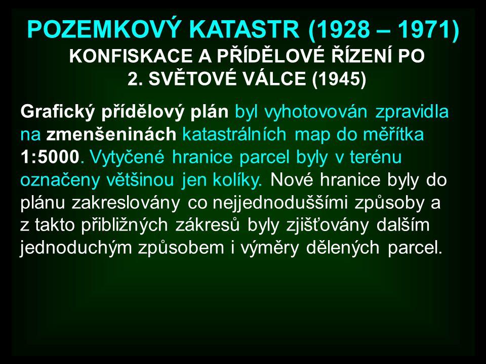 KONFISKACE A PŘÍDĚLOVÉ ŘÍZENÍ PO 2. SVĚTOVÉ VÁLCE (1945)