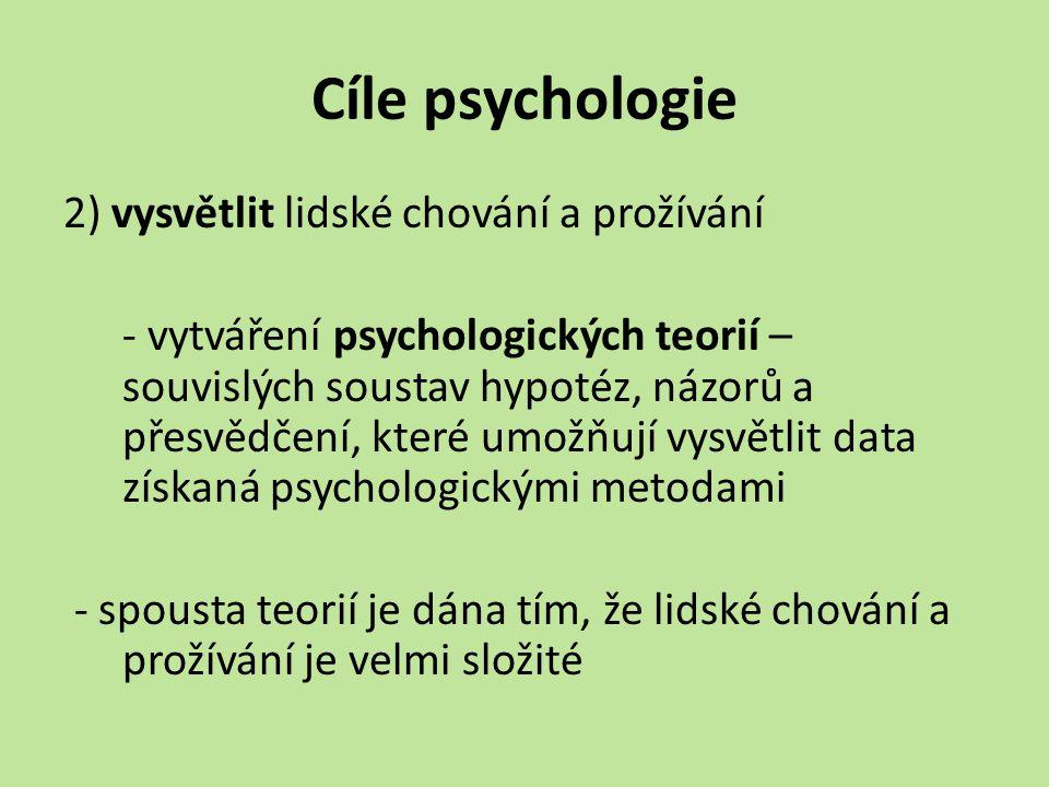 Cíle psychologie
