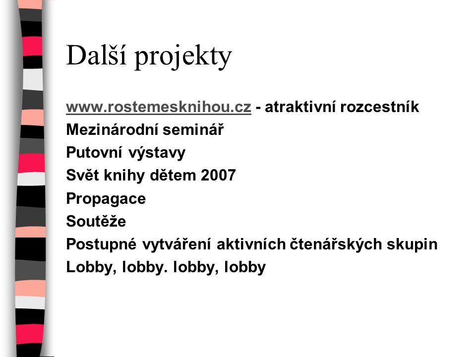 Další projekty www.rostemesknihou.cz - atraktivní rozcestník