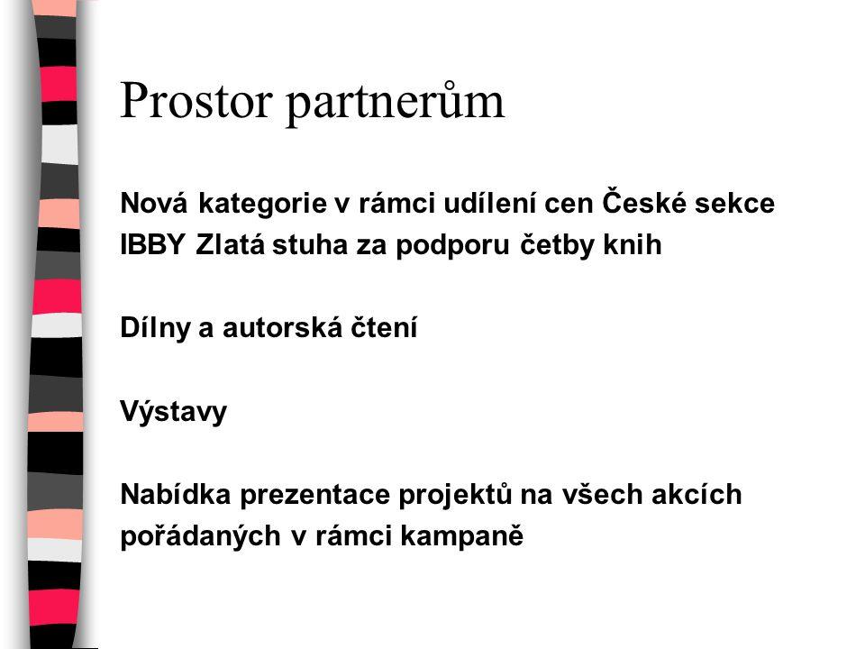 Prostor partnerům Nová kategorie v rámci udílení cen České sekce