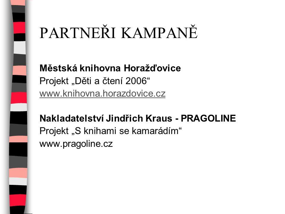 PARTNEŘI KAMPANĚ Městská knihovna Horažďovice