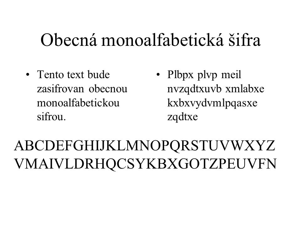Obecná monoalfabetická šifra