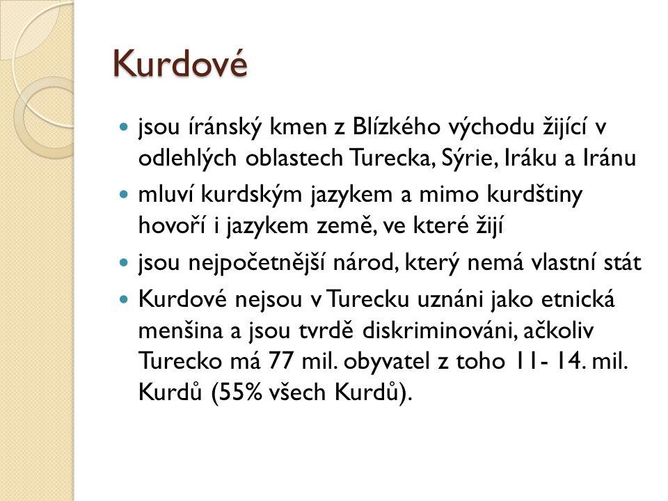 Kurdové jsou íránský kmen z Blízkého východu žijící v odlehlých oblastech Turecka, Sýrie, Iráku a Iránu.