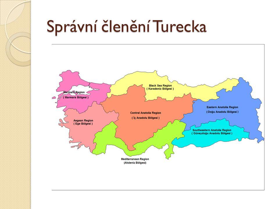 Správní členění Turecka